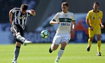 Botafogo e Coritiba empatam em 2×2 no Rio