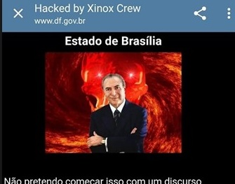 Hackers invadem site do Governo do DF e fazem ofensas a Temer