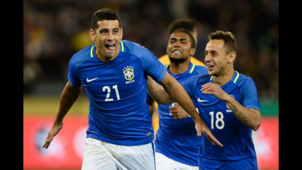 Diego Souza faz dois e Brasil goleia Austrália por 4×0