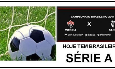 Vitória x Santos abrem a rodada de hoje do Brasileirão