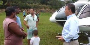 Helicóptero que transportava Governador Rui Costa faz pouso de segurança no sul da Bahia