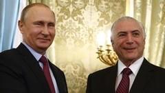 Temer diz na Rússia que Brasil está em recuperação econômica