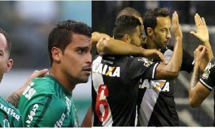 Vasco e Palmeiras vencem duelos do sábado
