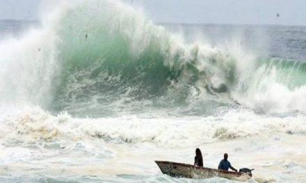 Marinha emite alerta sobre mar perigoso