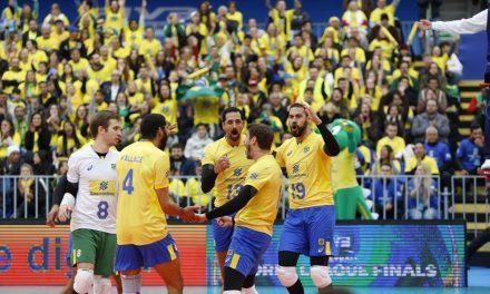 Brasil ganha do Canadá na Liga Mundial de Volei