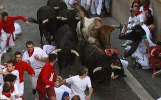 Festas de São Firmino (Espanha) : 10 feridos na tradicional corrida de touros