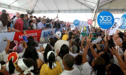 Rui Costa em Santaluz: coração batendo mais forte ao completar 300 viagens ao interior