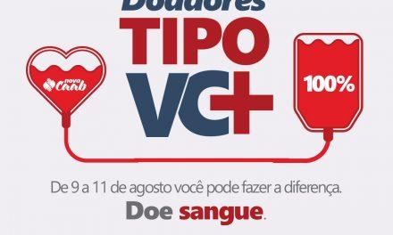 CAAB e Hemoba promovem campanha de coleta de sangue no Salvador Shopping