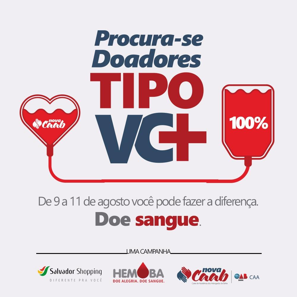3290f07bc CAAB e Hemoba promovem campanha de coleta de sangue no Salvador Shopping -  Farol News