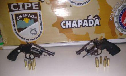 Ruy Barbosa: PM prende quarteto com posse de armas e munição
