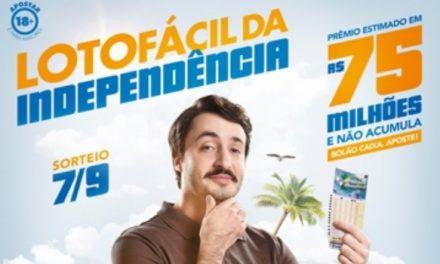 Lotofácil da Independência pagará prêmio de R$ 75 milhões