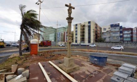 Cruz da Galícia será realocada para o Jardim dos Namorados depois de restaurada