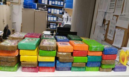 Cocaína apreendida na Estrada Velha do Aeroporto é avaliada em R$ 1 milhão