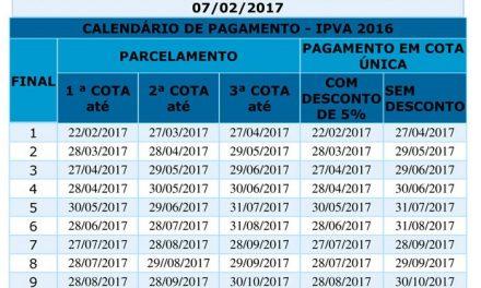 Desconto de 5% no IPVA vale até esta quarta (27) para veículos com placas de final zero