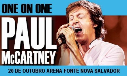 Paul McCartney dia 20 na Fonte Nova e em 1965 cantando Yesterday sem os Beatles