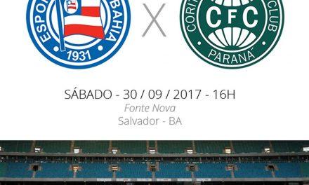 Bahia x Coritiba: jogo para o tricolor se distanciar do Z-4
