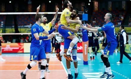 No vôlei masculino o Brasil vence os EUA e enfrenta o Japão neste domingo, 17