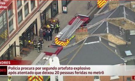 Londres: explosão em metrô deixa ao menos 20 feridos