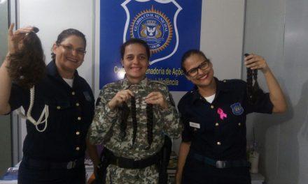 Guardas Civis doam cabelos para o Hospital Martagão Gesteira