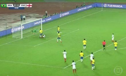 Inglaterra aplica 3 a 1 na Seleção Brasileira sub-17 que está fora da final do Mundial da categoria