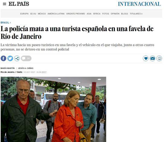 Morte de turista espanhola por PMs no Rio repercute na imprensa europeia