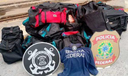 PF e Receita apreendem mais de 540 quilos de cocaína no porto de Salvador