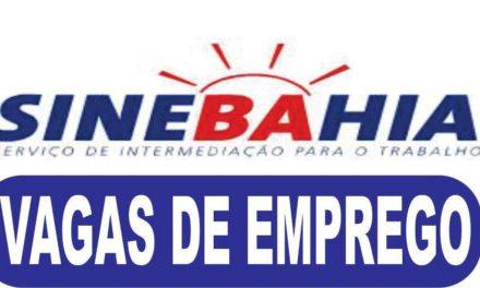 SineBahia tem oferta de emprego para esta sexta-feira, 17