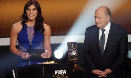 Hope Solo acusa Joseph Blatter de abuso sexual