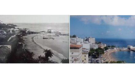 Porto da Barra: dois momentos da sempre bela praia da capital baiana