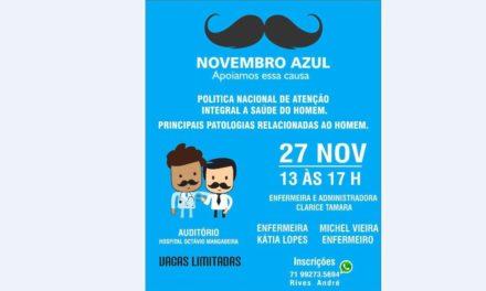 Sindate-BA promove ciclo de palestras para divulgar o 'Novembro Azul'