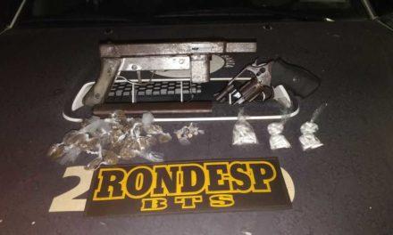 Rondesp BTS apreende metralhadora e revólver no bairro da Liberdade