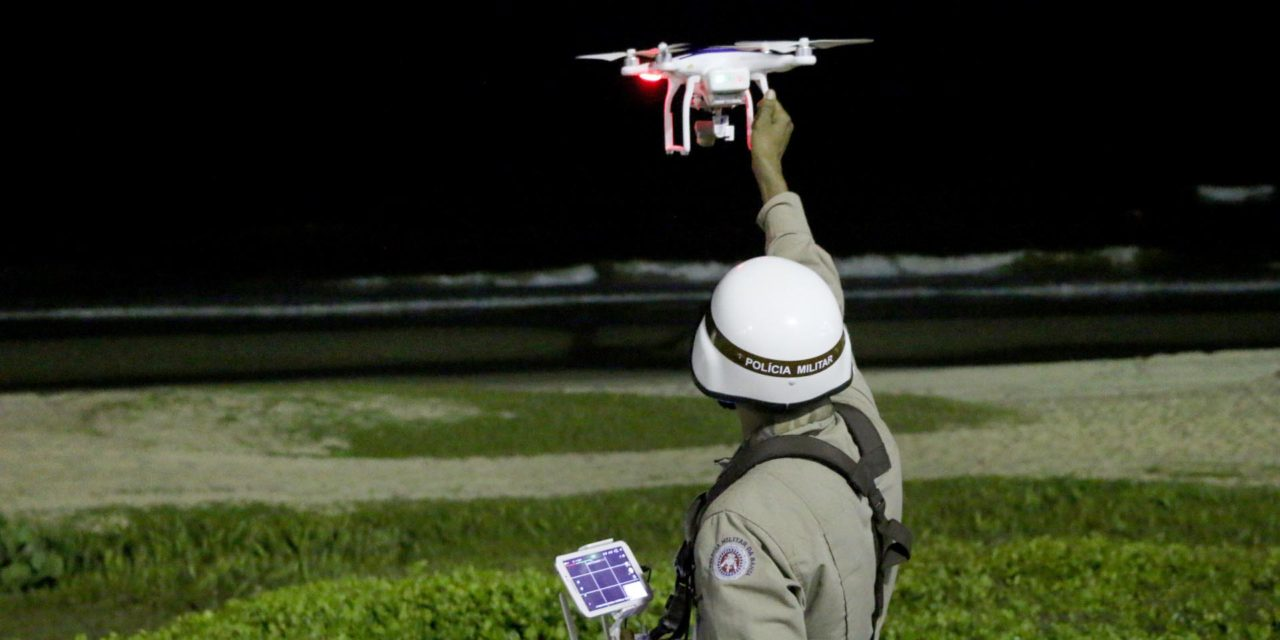 Drone da PM ajuda no monitoramento em Portais de Abordagem