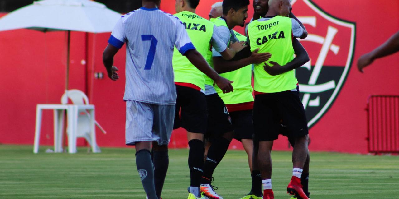 Vitória vence Atlântico por 2 x 1 em jogo-treino no Barradão nesta sexta-feira, 12