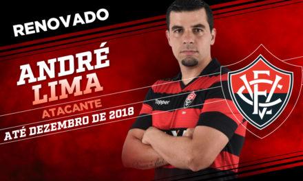 Vitória a anuncia que renovou com o atacante André Lima para mais uma temporada