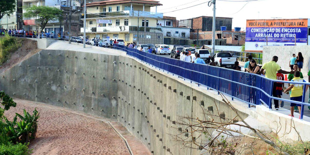 Prefeitura já requalificou 47 encostas em Salvador entre 2013 e 2017