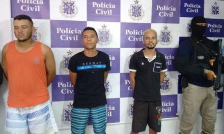 Polícia prende em flagrante trio envolvido em sequestro