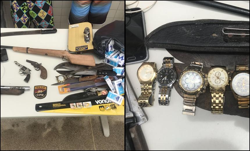Quadrilha é desarticulada e armas e objetos roubados são recuperados