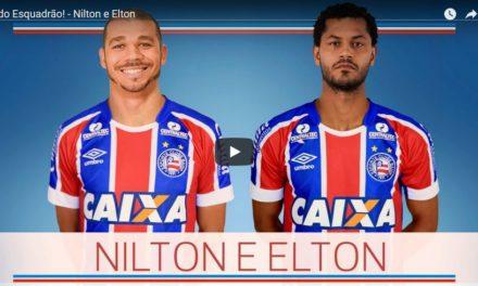 Bahia anuncia empréstimo dos volantes Elton e Nilton e contratação em definitivo do atacante Elber