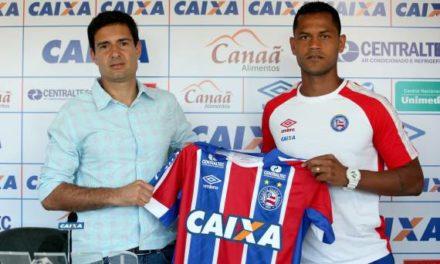 Elton é apresentado em coletiva de imprensa e diz que está ansioso para defender o Bahia