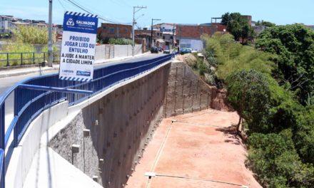 Prefeitura entrega contenção de encosta no Arraial do Retiro nesta quarta-feira (24)