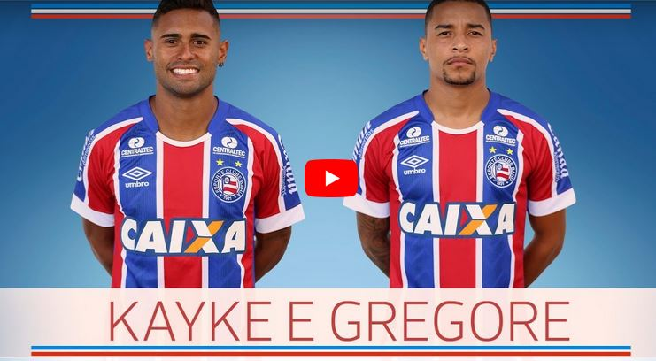 Bahia confirma contratação do atacante Kayke e do volante Gregore