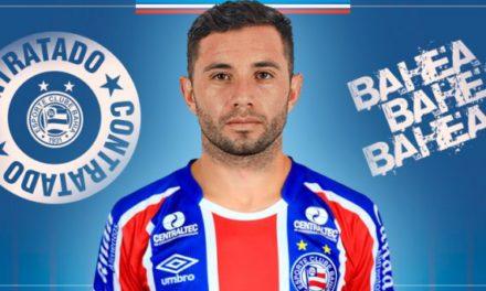 Chileno Eugenio Mena é apesentado como mais um reforço do Bahia para 2018