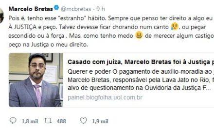 Juiz Bretas usa Twitter para justificar auxílio-moradia para ele e esposa
