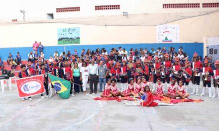 Mais duas escolas são contempladas com entrega de instrumentos para fanfarras