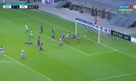Em mais uma partida sofrível Bahia consegue ganhar de 2 a 1 do Atlântico