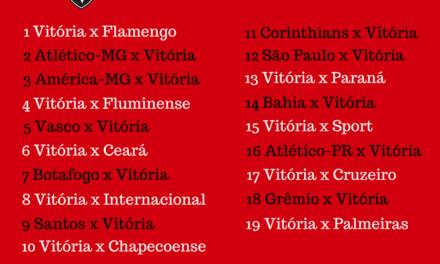 Vitória estreia no Campeonato Brasileiro 2018 pegando o Flamengo no Barradão