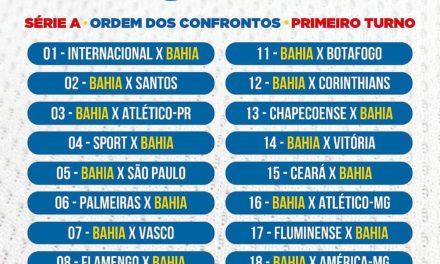 CBF divulga tabela dos jogos do Bahia no primeiro turno do Brasileirão 2018