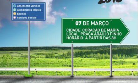Caravana do Bem retorna atendimento em março com primeira ação em Coração de Maria, no dia 07