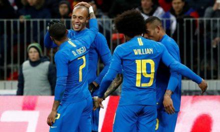 Brasil resolve no segundo tempo e vence Rússia por 3 a 0 em Moscou