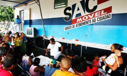 SAC Móvel visita dez municípios na primeira quinzena de março